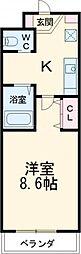 JR東海道本線 岡崎駅 徒歩5分の賃貸マンション 1階1Kの間取り