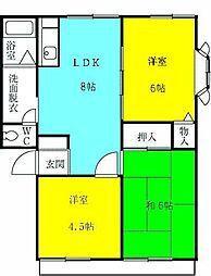 MMホーム 1階3DKの間取り