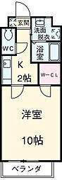 名鉄名古屋本線 有松駅 徒歩23分の賃貸アパート 1階1Kの間取り