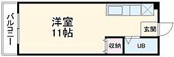 JR東海道本線 浜松駅 バス50分 サッカー場下車 徒歩3分の賃貸マンション 4階ワンルームの間取り