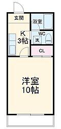 JR東海道本線 浜松駅 バス42分 湖東下車 徒歩2分の賃貸アパート 2階1DKの間取り