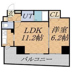 フォレスト円山 11階1LDKの間取り