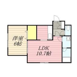 札幌市営南北線 麻生駅 徒歩17分の賃貸マンション 1階1LDKの間取り