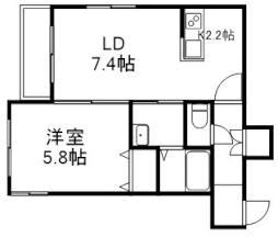 Cozy Place 栄通 4階1LDKの間取り