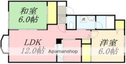 道南いさりび鉄道 五稜郭駅 徒歩18分の賃貸アパート 2階2LDKの間取り
