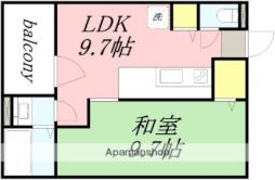 JR函館本線 南小樽駅 徒歩11分の賃貸マンション 3階1LDKの間取り