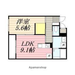パレスニーノ北広島II 1階1LDKの間取り