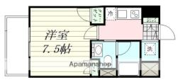 エルスタンザ広瀬通RESIDENCE 3階1Kの間取り