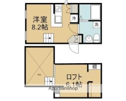 東武東上線 若葉駅 徒歩4分の賃貸アパート 1階ワンルームの間取り