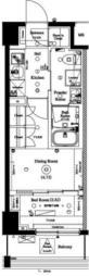 東京メトロ南北線 志茂駅 徒歩1分の賃貸マンション 4階2Kの間取り