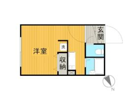 JR総武線 三鷹駅 徒歩7分の賃貸マンション 1階ワンルームの間取り