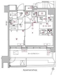東京メトロ有楽町線 護国寺駅 徒歩5分の賃貸マンション 10階1LDKの間取り