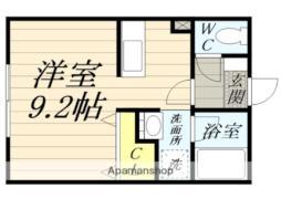 JR東海道本線 鴨宮駅 徒歩27分の賃貸アパート 1階ワンルームの間取り