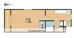 天竜浜名湖鉄道 常葉大学前駅 徒歩27分の賃貸マンション 4階1DKの間取り