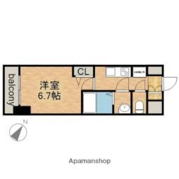 JR中央本線 鶴舞駅 徒歩2分の賃貸マンション 10階1Kの間取り