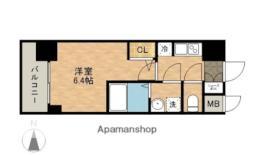 JR東海道本線 熱田駅 徒歩3分の賃貸マンション 12階1Kの間取り