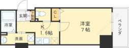 イーストヴィラ梅田 5階1Kの間取り