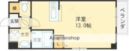 京阪本線 守口市駅 徒歩4分の賃貸マンション 2階ワンルームの間取り