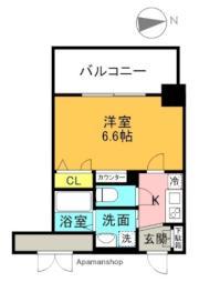 アドバンス大阪城北ルミウス 9階1Kの間取り