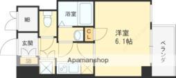 阪神本線 大阪梅田駅 徒歩3分の賃貸マンション 2階1Kの間取り