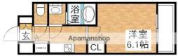 エスライズ新大阪フロント 5階1Kの間取り