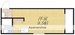 ファインクレスト・江坂 6階ワンルームの間取り