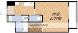 北大阪急行電鉄 江坂駅 徒歩10分の賃貸マンション 4階1Kの間取り
