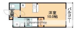 阪急千里線 北千里駅 バス10分 小野原南下車 徒歩7分の賃貸アパート 3階1Kの間取り
