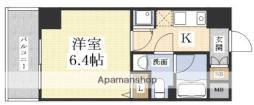 ハピネス江坂 7階1Kの間取り