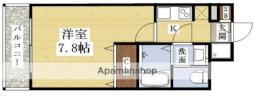 エスリード新大阪CONFORTI番館 2階1Kの間取り