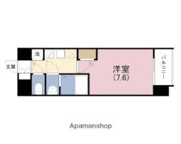 JR東西線 海老江駅 徒歩1分の賃貸マンション 10階1Kの間取り