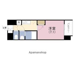 JR東西線 海老江駅 徒歩1分の賃貸マンション 9階1Kの間取り