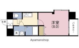 JR東西線 海老江駅 徒歩4分の賃貸マンション 3階1Kの間取り