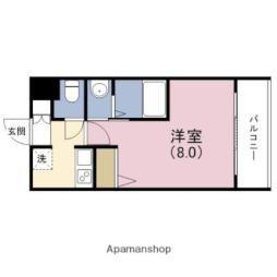 阪神本線 野田駅 徒歩6分の賃貸マンション 8階1Kの間取り