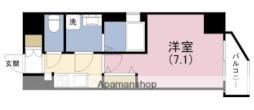 JR大阪環状線 野田駅 徒歩5分の賃貸マンション 4階1Kの間取り