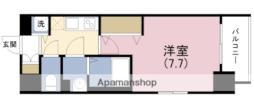 JR東西線 海老江駅 徒歩9分の賃貸マンション 8階1Kの間取り