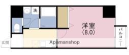 JR東西線 海老江駅 徒歩5分の賃貸マンション 8階1Kの間取り
