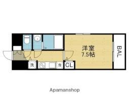 Osaka Metro千日前線 北巽駅 徒歩6分の賃貸マンション 7階1Kの間取り