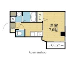 Osaka Metro千日前線 今里駅 徒歩6分の賃貸マンション 3階1Kの間取り