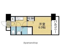Osaka Metro千日前線 新深江駅 徒歩7分の賃貸マンション 6階1Kの間取り