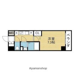 Osaka Metro千日前線 新深江駅 徒歩2分の賃貸マンション 9階1Kの間取り