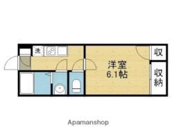 モダンアパートメント平野本町 3階1Kの間取り