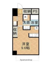 JR山陽本線 岡山駅 徒歩18分の賃貸マンション 4階ワンルームの間取り