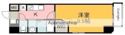 広島電鉄5系統 比治山橋駅 徒歩10分の賃貸マンション 5階1Kの間取り