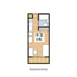JR予讃線 伊予北条駅 徒歩9分の賃貸アパート 1階ワンルームの間取り