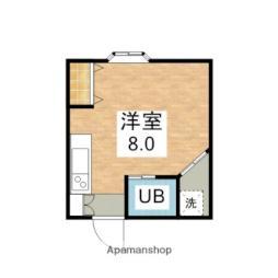 JR予讃線 伊予北条駅 徒歩9分の賃貸アパート 2階1Kの間取り