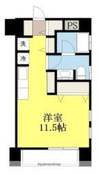 伊予鉄道横河原線 石手川公園駅 徒歩5分の賃貸マンション 1階ワンルームの間取り