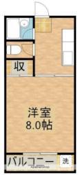 JR日豊本線 清武駅 徒歩15分の賃貸アパート 2階1Kの間取り