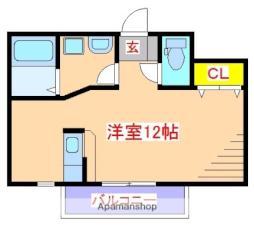 JR日豊本線 国分駅 徒歩28分の賃貸アパート 2階ワンルームの間取り