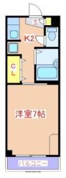 JR日豊本線 国分駅 徒歩7分の賃貸マンション 3階1Kの間取り